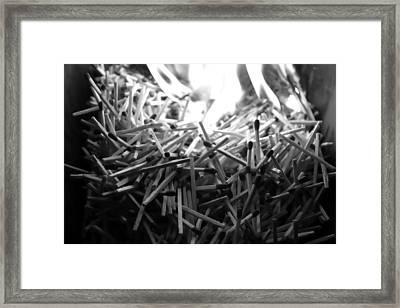 Brushfire 9 Framed Print by Sumit Mehndiratta