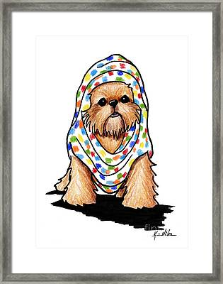 Brussels Griffon Beauty Framed Print by Kim Niles