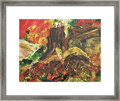 Brutality Of Mankind Framed Print by Suzanne  Marie Leclair