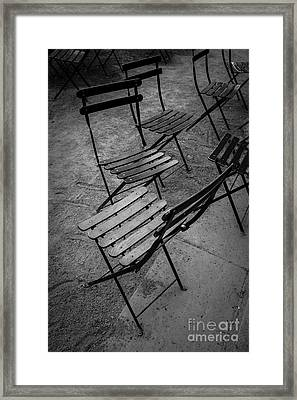 Bryant Park Chairs Nyc Framed Print by Edward Fielding