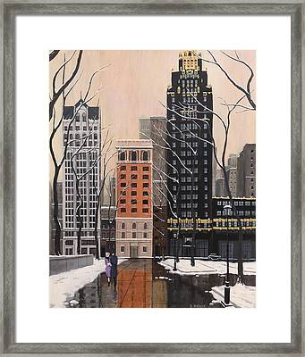 Bryant Park Framed Print by Dave Rheaume