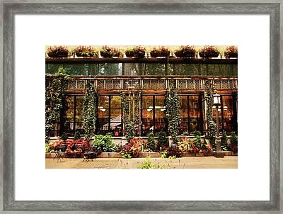 Bryant Park Grill Framed Print by Jessica Jenney