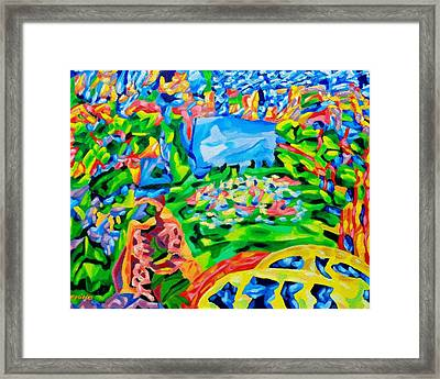 Bryant Park In The Afternoon Framed Print by Chiho Yoshikawa