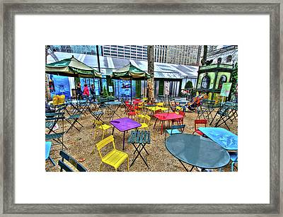 Bryant Park In Vivid Color Framed Print by Laura Bode