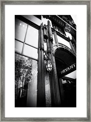 Bryant Park Reflections Framed Print by Jessica Jenney