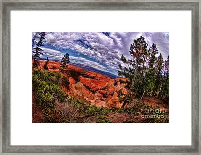 Bryce Canyon National Park Awesome Clouds Framed Print by Blake Richards