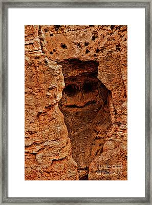 Bryce Canyon Rock Face Framed Print by Blake Richards