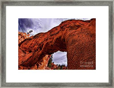 Bryce Red Canyon Tunnel  Framed Print by Blake Richards