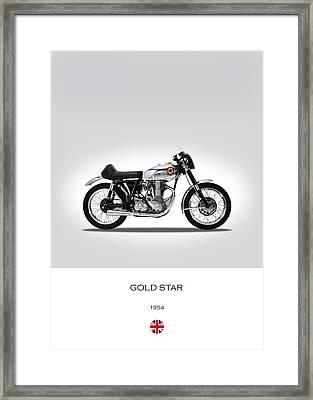 Bsa Gold Star 1954 Framed Print by Mark Rogan