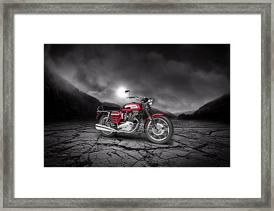 Bsa Rocket 3 1969  Mountains Framed Print by Aged Pixel