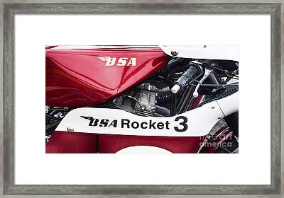 Bsa Rocket 3 Framed Print by Tim Gainey