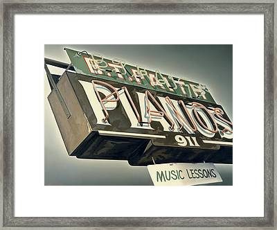 B.t.faith Pianos Framed Print by Van Cordle
