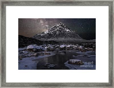 Buachaille And The Milkyway Framed Print by John Farnan
