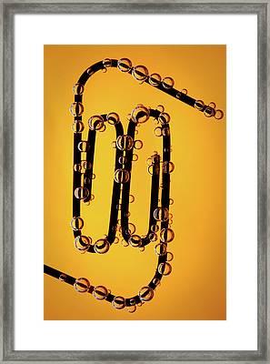 Bubble Race Framed Print by Marc Garrido