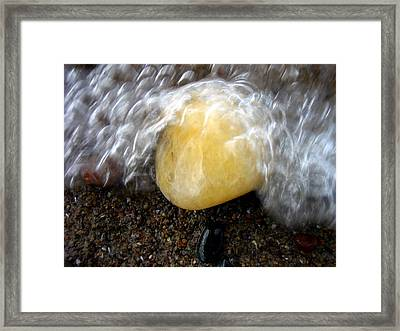 Bubble Rock Framed Print by Russell Styles