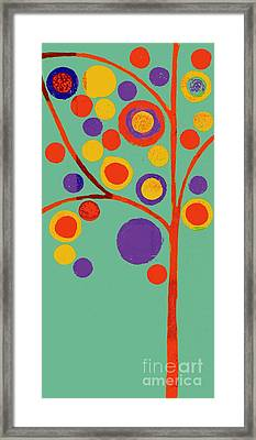 Bubble Tree - 290l - Pop 01 Framed Print by Variance Collections