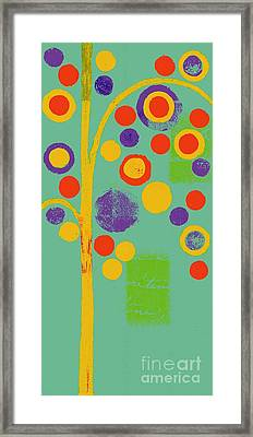 Bubble Tree - 290r - Pop 01 Framed Print by Variance Collections