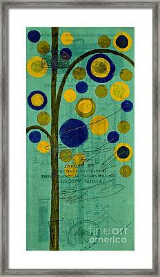 Bubble Tree - 42r1r Framed Print by Variance Collections