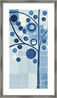 Bubble Tree - S290-01l - Blue Framed Print by Variance Collections
