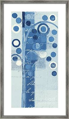 Bubble Tree - S290-01r - Blue Framed Print by Variance Collections