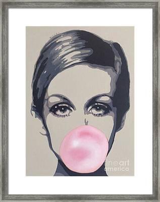 Bubblegum Beauty Framed Print by Sara Sutton