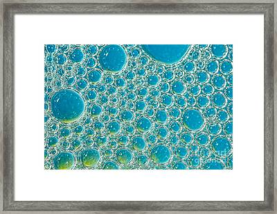 Bubbles Abstract Turquoise Blue By Kaye Menner Framed Print by Kaye Menner