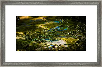Bubbles And Reflections Framed Print by Marvin Spates