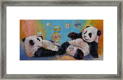 Bubbles Framed Print by Michael Creese