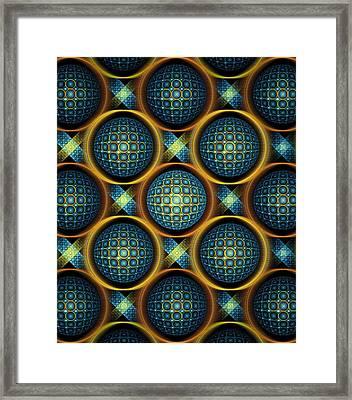 Bubbles - Pattern - Fractal Framed Print by Anastasiya Malakhova
