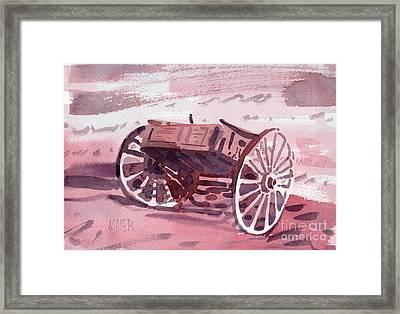Buckboard Framed Print by Donald Maier