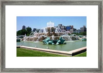 Buckingham Fountain Framed Print by Anita Burgermeister