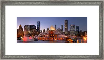 Buckingham Fountain In Chicago Framed Print by Twenty Two North Photography