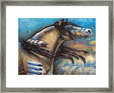 Buckskin Bell Blues Framed Print by Jonelle T McCoy