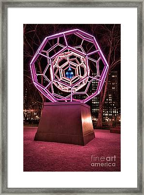 bucky ball Madison square park Framed Print by John Farnan