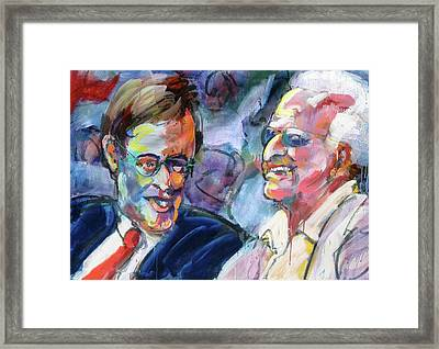 Bud And Bob Framed Print by Les Leffingwell