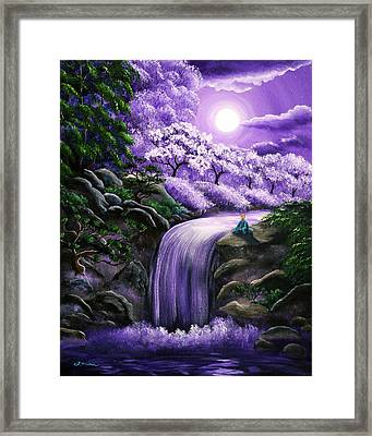 Buddha Between Heaven And Earth Framed Print by Laura Iverson