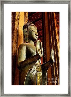 Buddha - Double Abhaya Mudra  Framed Print by Dean Harte