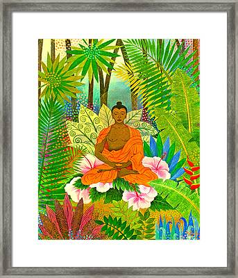 Buddha In The Jungle Framed Print by Jennifer Baird