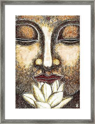 Buddha Framed Print by Kimmo Matias Paintings