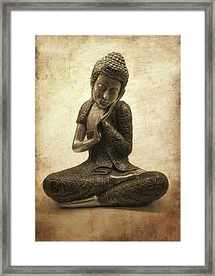 Buddha Lotus Framed Print by Madeleine Forsberg