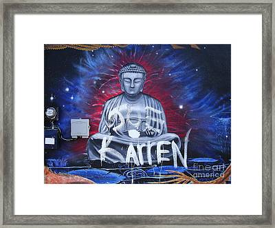 Buddha Moves On Framed Print by Chuck Taylor