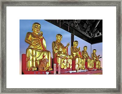 Buddhas Delight - Representations Of Buddhism Framed Print by Christine Till