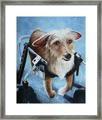 Buddy's Hope Framed Print by Vic Ritchey