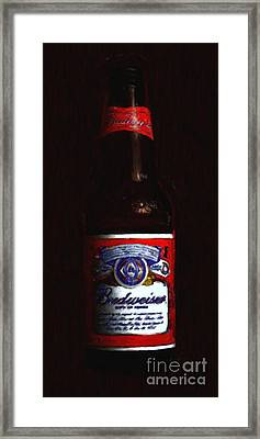 Budweiser - King Of Beers Framed Print by Wingsdomain Art and Photography