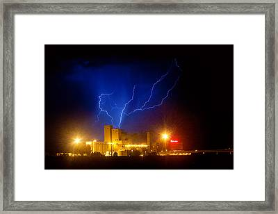 Budweiser Powered By Lightning Framed Print by James BO  Insogna