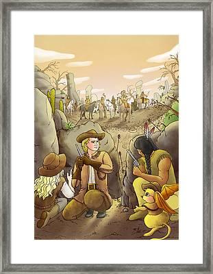Buffalo Bill And Standing Buffalo Framed Print by Reynold Jay
