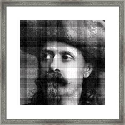 Buffalo Bill Cody Mosaic Framed Print by Daniel Hagerman