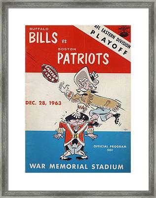 Buffalo Bills Vintage Program 2 Framed Print by Joe Hamilton