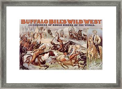 Buffalo Bills Wild West And Congress Framed Print by Everett