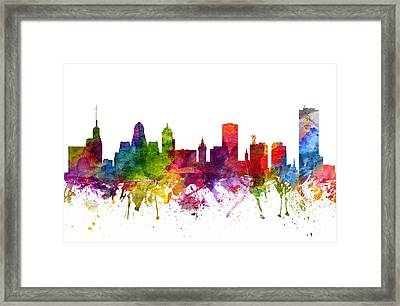 Buffalo Cityscape 06 Framed Print by Aged Pixel